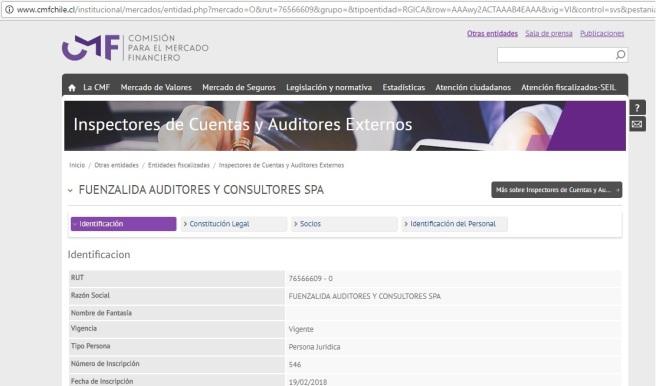 CMF FUENZALIDA AUDITORES
