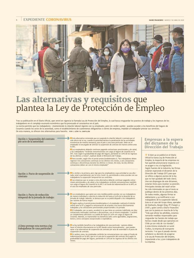 Alternativas y requisitos Ley de protección del empleo que plantea la Ley de Protección de Empleo